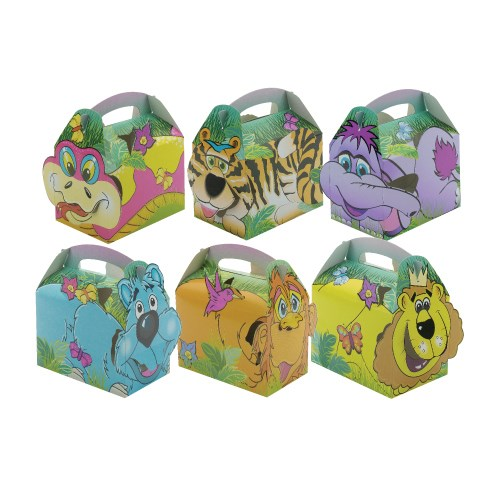 JUNGLE LION  FRIENDS KIDS FOOD BOXES