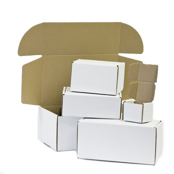 200 X 100 X 100MM WHITE DIE CUT POSTAL BOXES