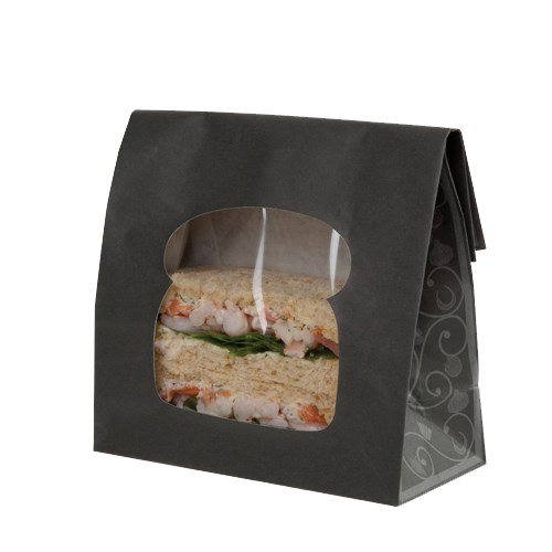 ELEGANCE BLACK LAMINATED SANDWICH BAG
