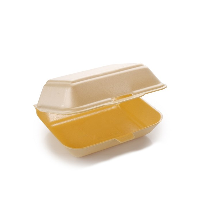 HP2 Champagne Polstyrene Foam Meal Containers