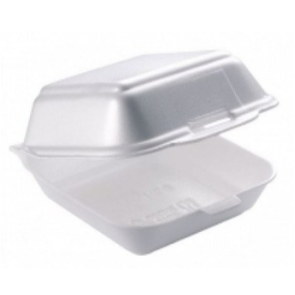 HP6 1/4 POUNDER POLSTYRENE FOAM BURGER BOXES