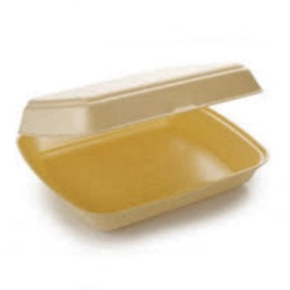 HP4/1 1 Compartment Polstyrene Foam Meal Boxes