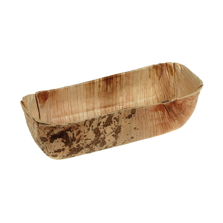 NATURESSE PALM LEAF COMPOSTABLE DISPOSABLE OVAL BOWL 18 X 8.5 X 4.5CM