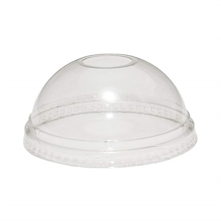 12/16OZ CLEAR DOME SMOOTHIE CUP LIDS WITH HOLE