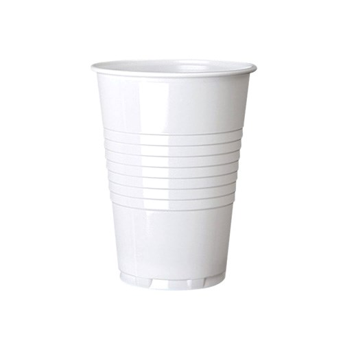 7OZ WHITE PLASTIC VENDING WATER DISPOSABLE CUPS