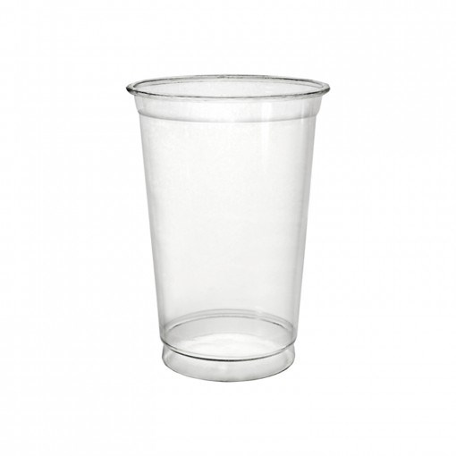 9OZ CLEAR PET PLASTIC CUP STRAIGHT PULSER FULLY RECYCLABLE