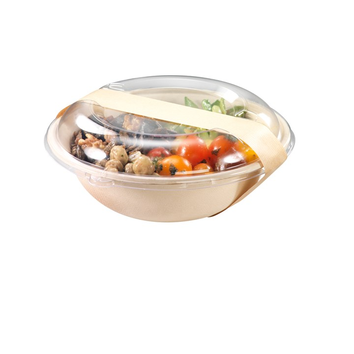NATURESSE SUGARCANE COMPOSTABLE DISPOSABLE BOWL 900ML NATURAL