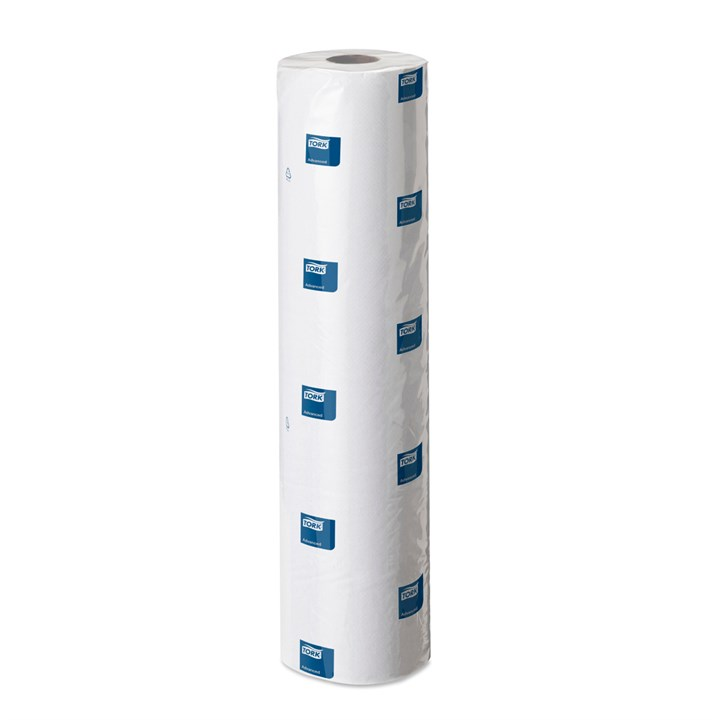 TORK COUCH ROLL WHITE C1 2PLY 165 SHEETS 48CM WIDE X 56M