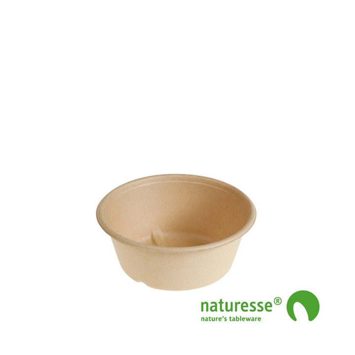NATURESSE COMPOSTABLE 600ML 151 X 60MM NATURAL BOWL