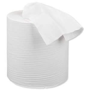WHITE CENTREFEED PAPER ROLLS 2PLY 150M