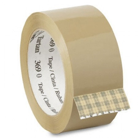 3M SCOTCH 369 BROWN POLYPROPYLENE HOT MELT TAPE 48MM X 66M ROLL