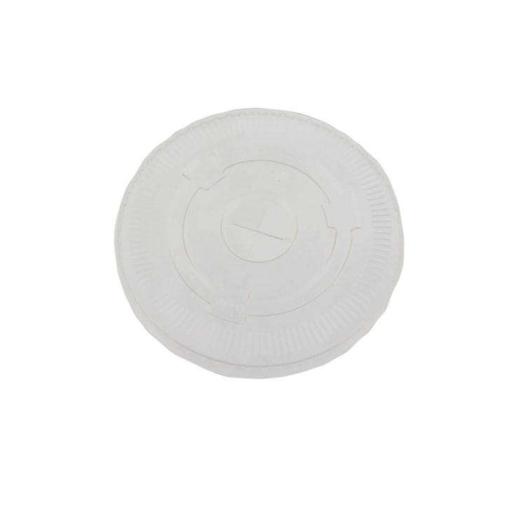 12OZ PLA COMPOSTABLE FLAT SMOOTHIE CUP LID