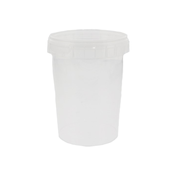 550ML CLEAR PLASTIC RING LOCK CONTAINER & LID