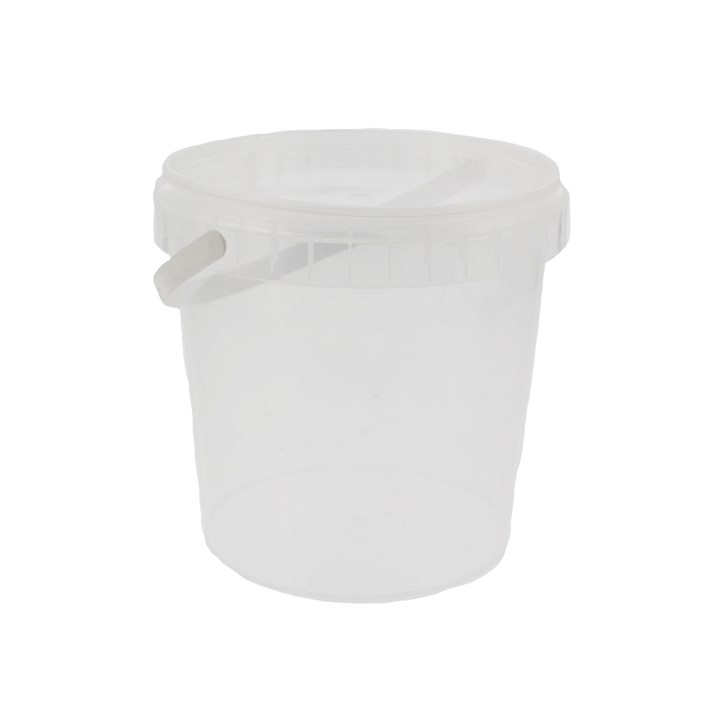 1180ML CLEAR PLASTIC RING LOCK CONTAINER & LID