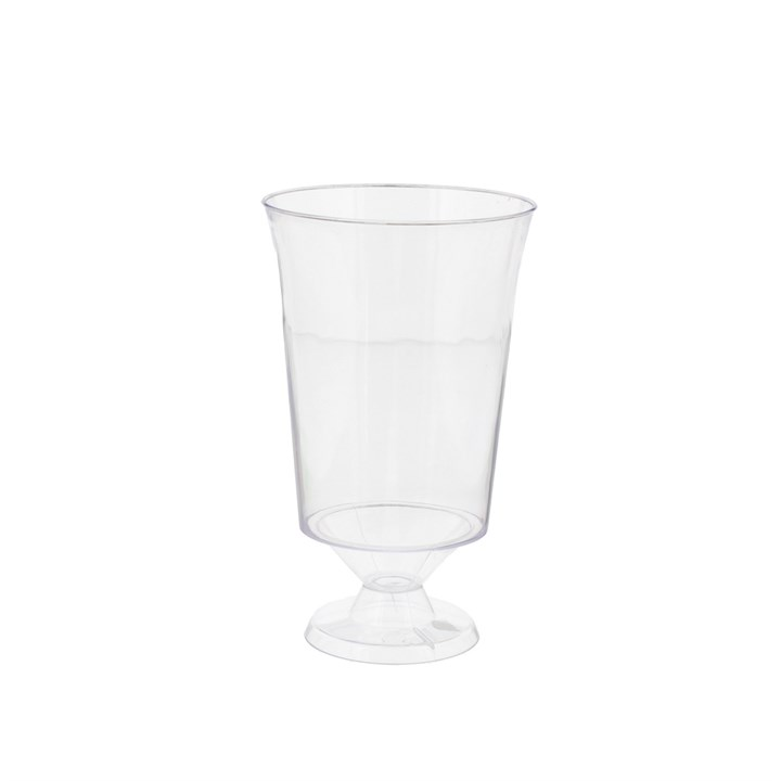 175ML DISPOSABLE PLASTIC WINE GLASSES FULLY RECYCLABLE