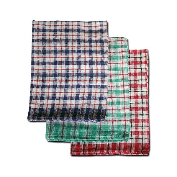 MINI CHECK COTTON TEA TOWEL ASSORTED COLOURS