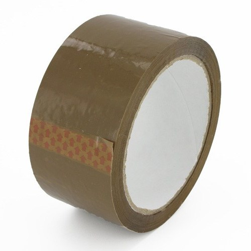 OLYMPIA BROWN SOLVENT POLYPROPYLENE TAPE 48MM X 990M ROLL