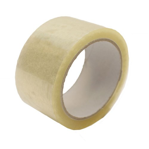 CLEAR PP HOT MELT TAPE 48MM X 66M ROLL 25MU