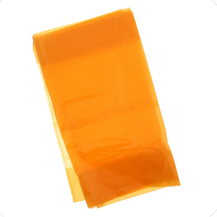 LAUNDRY ALGINATE BAGS WITH SOLUBLE STRIP ORANGE 20 X 27 INCH
