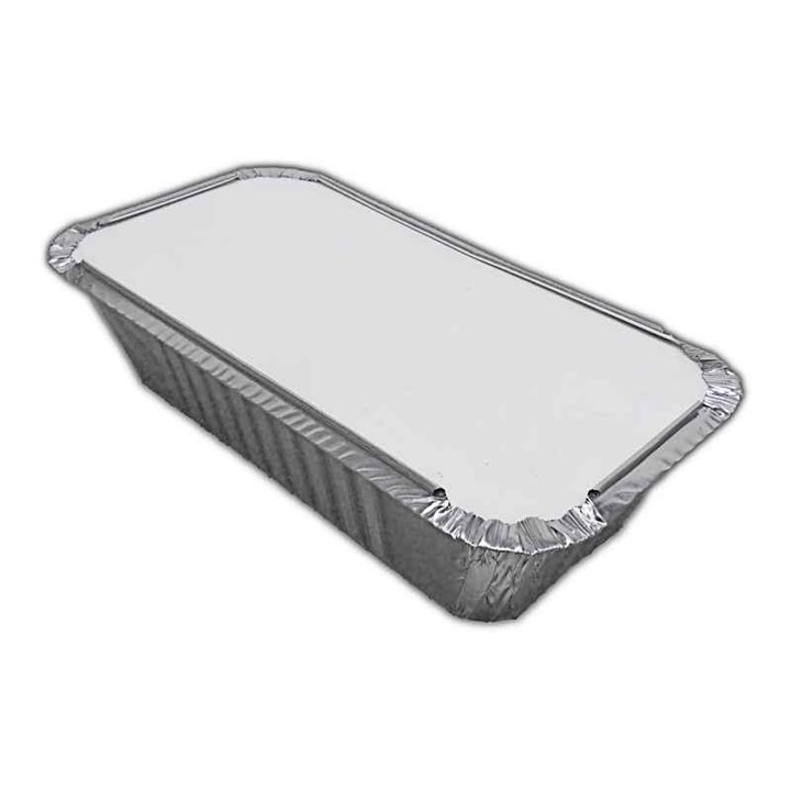 NO.6A TAKEAWAY FOIL TRAY CONTAINER & LID COMBO 4 X 8 INCH