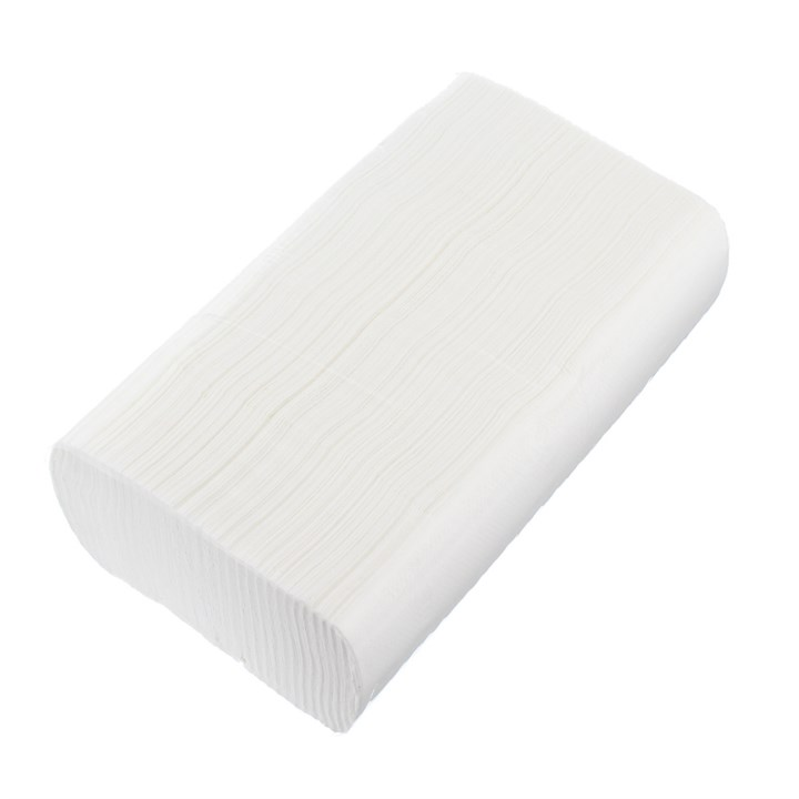 WHITE 2PLY Z/FOLD HAND TOWELS PURE CELLULOSE 150 SHEETS