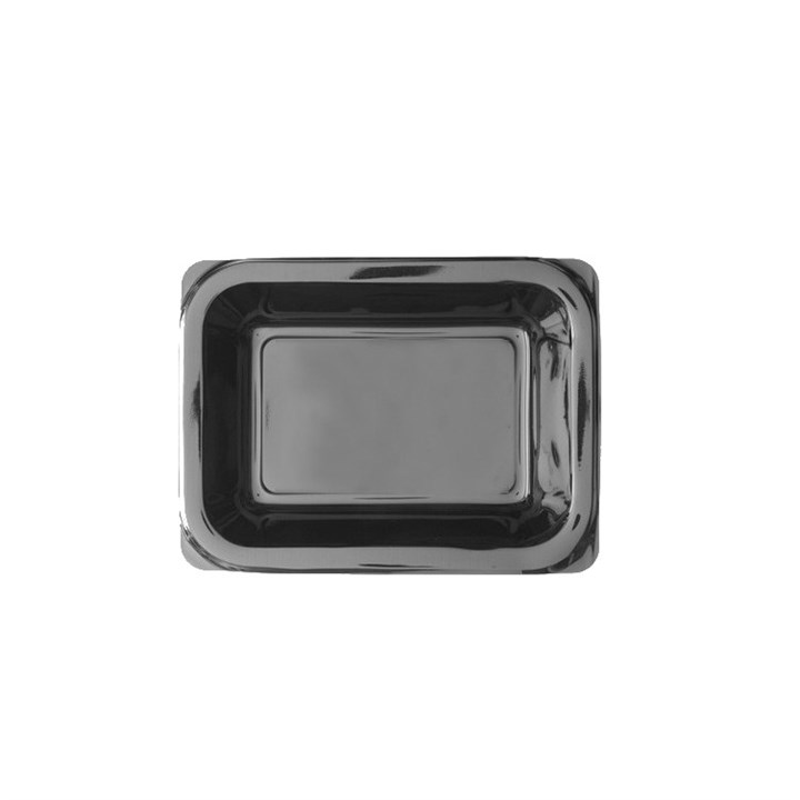 CPET BLACK MICROWAVABLE TRAY 171 X 127 X 50MM MAX. 180C