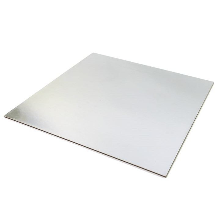 10 INCH SILVER SQUARE CAKE CARDS