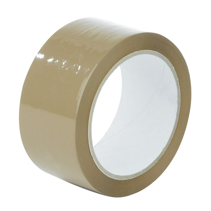 OLYMPIA BROWN POLYPROPYLENE HOT MELT TAPE 75MM X 132M ROLL