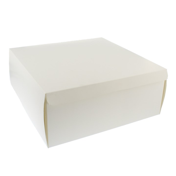 WHITE CAKE BOXES 12 X 12 X 5 INCH 275GSM 450 MICRON HINGED