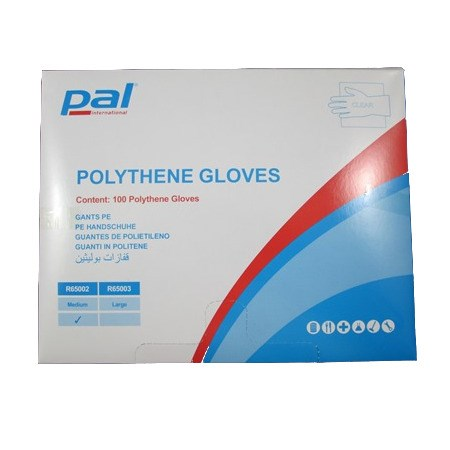 PAL CLEAR POLY GLOVES MEDIUM R65002