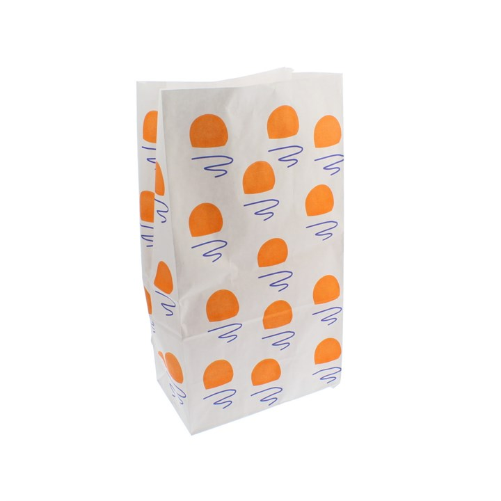 5 X 8.5 X 9.75 INCH WHITE KRAFT SOS PAPER BAG