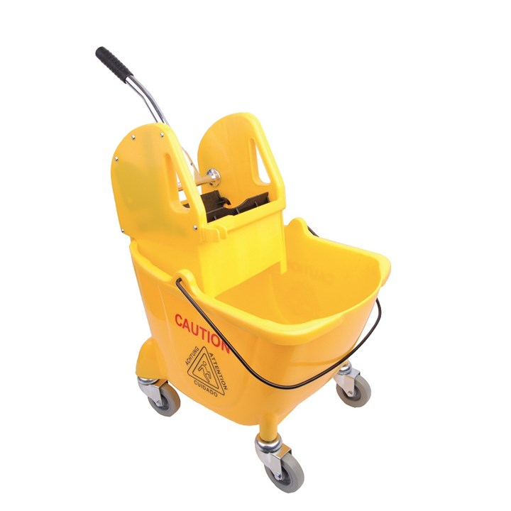 YELLOW 25L BUFFALO KENTUKY MOP BUCKET AND WRINGER SET