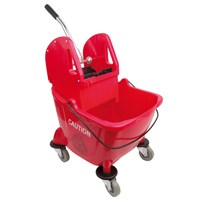 RED 25L BUFFALO KENTUKY MOP BUCKET AND WRINGER SET
