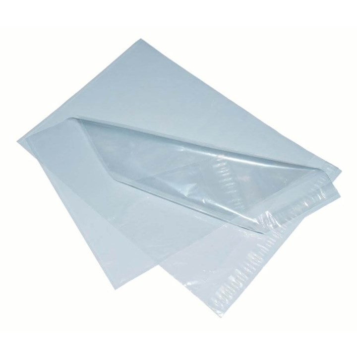 230 X 310MM WITH 50MM SELF SEAL LIP CLEAR POLYTHENE MAILER BAG