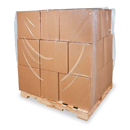1250 X 2300 X 1520MM CLEAR SHRINK PALLET COVER 125MU