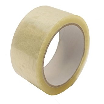 OLYMPIA CLEAR POLYPROPYLENE HOT MELT TAPE 75MM X 132M ROLL