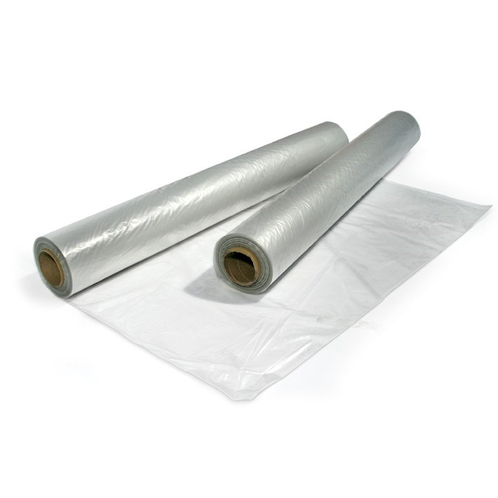 FLAT 1M OPEN 2M LIGHTWEIGHT CLEAR CENTRE FOLDED SHEETING 10KG 200 GAUGE