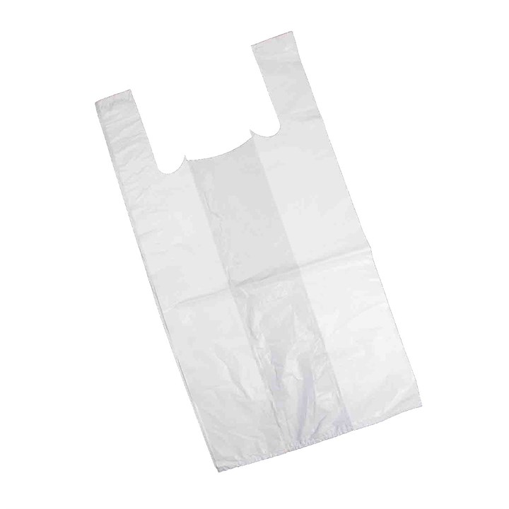 WHITE PLASTIC CARRIER BAGS