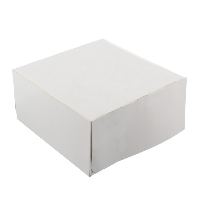WHITE CAKE BOXES 8 X 8 X 4 INCH 250GSM 410 MICRON - PACK OF 400