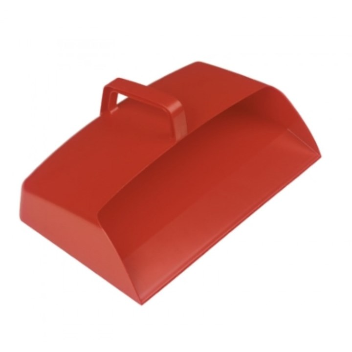 PLASTIC ENCLOSED DUSTPAN RED