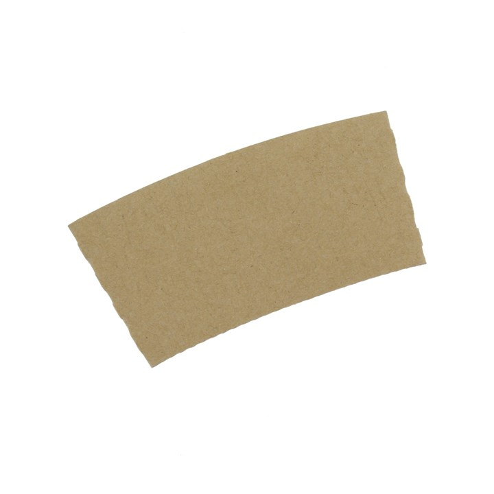 8/10OZ KRAFT BROWN CUP COMPOSTABLE SLEEVES CLUTCHES