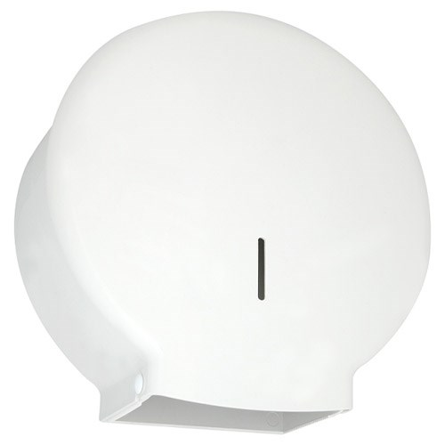 MINI JUMBO TOILET ROLL DISPENSER WHITE