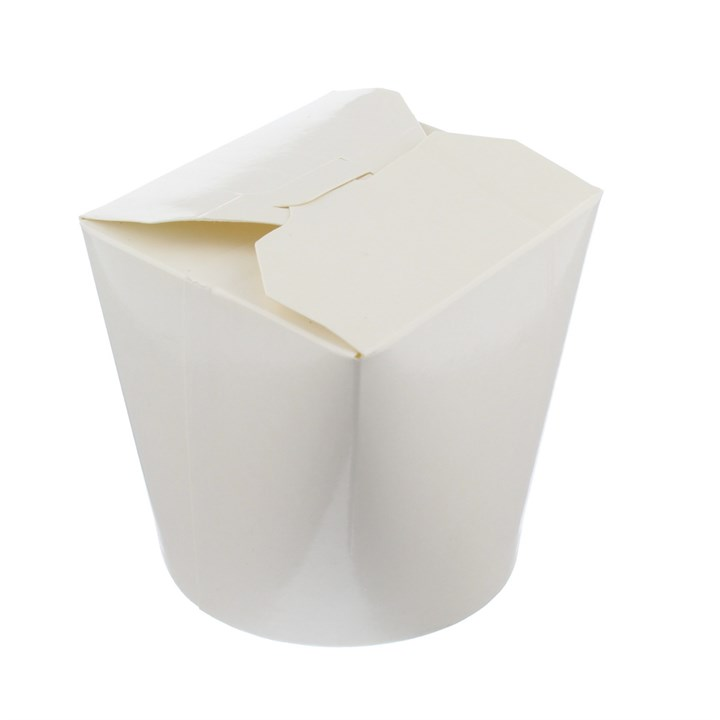 WHITE POLY COATED NOODLE BOXES