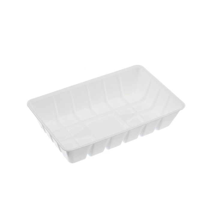 DISPOSABLE WHITE PLASTIC FAST FOOD CHIP STREET FOOD TRAY