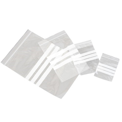 205 X 280MM MEDIUM DUTY GRIP SEAL BAGS WITH WRITE ON PANEL
