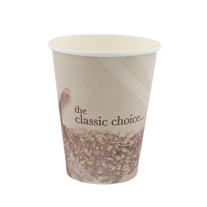 12OZ CLASSIC STOCK DESIGN SINGLE WALL DISPOSABLE COFFEE CUPS
