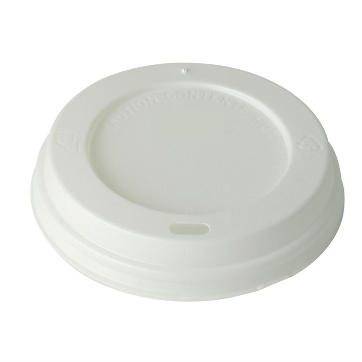 8/10OZ WHITE PLASTIC HOT COFFEE CUP LIDS