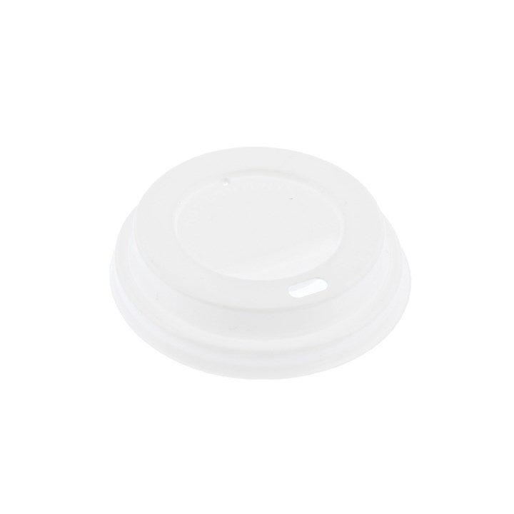 WHITE PLASTIC HOT COFFEE CUP LIDS