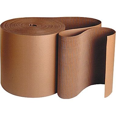 650MM X 75M ROLL OF CORRUGATED CARDBOARD PAPER