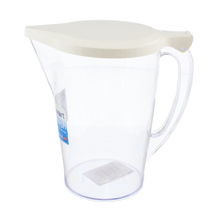 1L PLASTIC SERVING JUG WITH HINGED LID